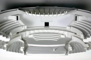 Podiummodell für den Umbau 2005