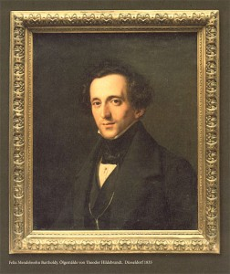 Felix Mendelssohn Bartholdy in einem Ölgemälde von Theodor Hildebrandt, Düsseldorf 1835 Heinrich-Heine-Institut Düsseldorf