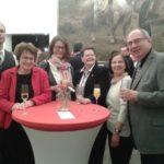 Festakt 200 Jahre Musikverein: MV-Vorstand v.l.n.r. Martin Kampmann, Monika Egelhaaf,, Susanne Köhn, Nicole Oehlert, Teresia Petrik, Peter Kraus